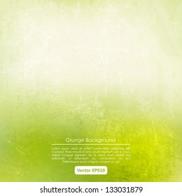 Grunge background in green and beige color
