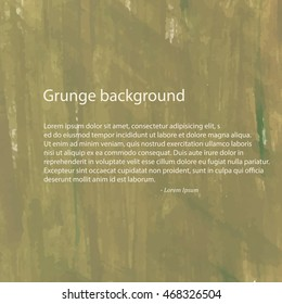 Grunge background green. For your design. Vector.