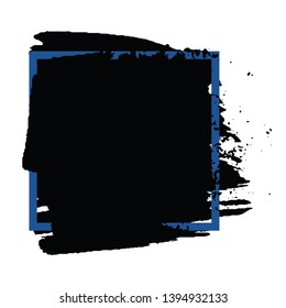Grunge background monochrome. The stain of the brush stroke. Template with space for text or logo