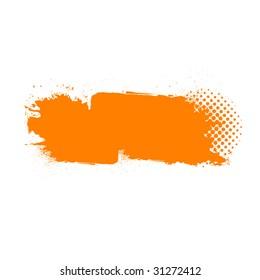 Grunge banner or background isolated on white for designer use