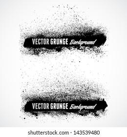Grunge banner backgrounds in black color