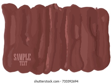 Grunge banner brown on a white background. For your design. Vector.
