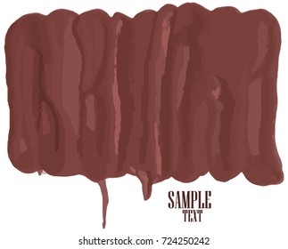 Grunge banner brown. For your design. Vector.