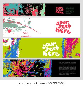 Grunge Banner Set for Text