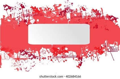 Grunge banner.Abstract vector template.