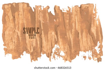 Grunge banners beige. For your design. Vector.