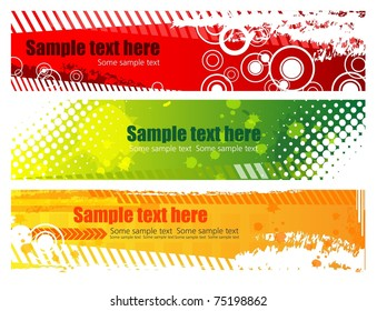 Grunge banners with place for your text, vector