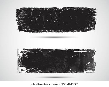 Grunge banners.Grunge backgrounds.Abstract vector template