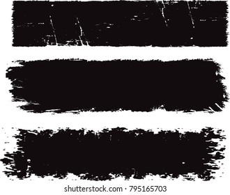 Grunge banners.Grunge backgrounds.Abstract vector template.