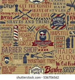Barber Shop Wallpaper Stock Vectors Images Vector Art