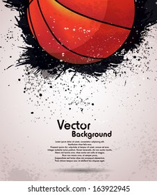 Grunge basketball background