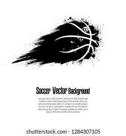 Grunge basketball background. Abstract basketball ball made from blots. Basketball design pattern. Vector illustration