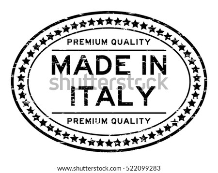 ffddf8706e Royalty-free stock vector images ID  522099283. Grunge black premium  quality made in Italy oval rubber stamp - Vector