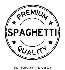 Grunge black round premium quality spaghetti rubber stamp