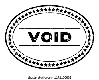Grunge black void word oval rubber seal stamp on white background