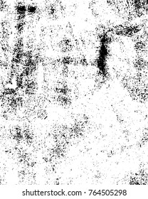 Grunge Black And White Circle Texture Template Pattern. Dark Messy Round Shapes Overlay Distress Background. Easy To Create Abstract Ink Dotted, Blotted, Spotted, Splatter Vintage Effect. Trendy Aging