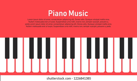 Grunge black and white piano keyboard.piano on a pink background   Stock vector illustration for poster, music performance, jazz festival.
