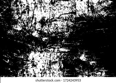 Grunge black and white texture. Pattern of an old worn surface. Dirty city background
