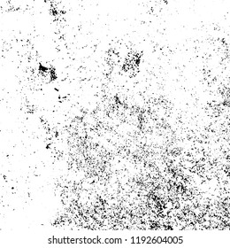 Grunge black and white vector background. Gloomy monochrome texture of cracks, scuffs. Pattern of chips and scratches