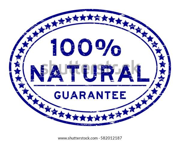 Grunge blue 100 percent natural oval rubber seal stamp