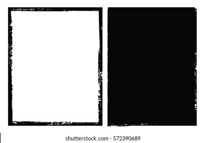 Grunge border frame.Grunge background.Abstract vector template.