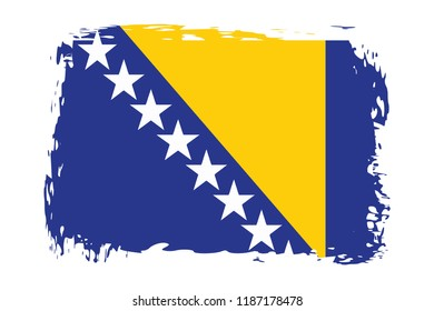 Grunge Bosnia and Herzegovina  flag.flag of Bosnia and Herzegovina ,banner vector illustration. Vector illustration eps10.