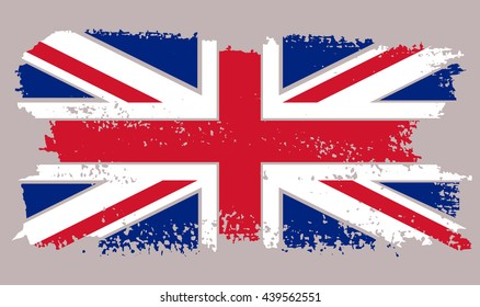 Grunge British flag.Vector UK flag.