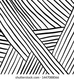 Grunge brush pattern. Texture. White and black vector.