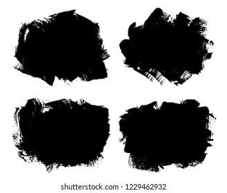 Grunge brush stroke backgrounds.Set of grunge banners.
