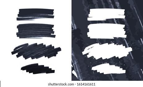 Grunge brush strokes background design element
