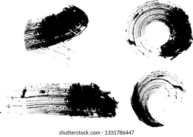 Grunge Brushes. Abstract Grunge Vector Elements for Design  . ink curved line