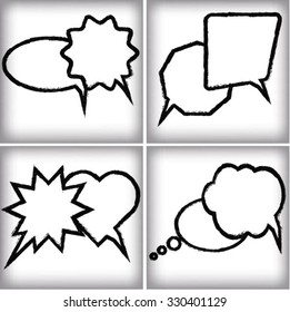 Grunge bubble set. Vector illustration