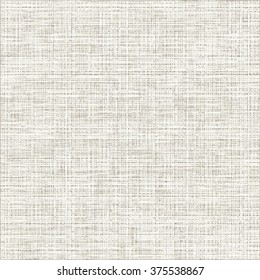 Grunge canvas texture. White fabric background. Abstract vector.