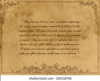 Grunge certificate background. Vector illustration