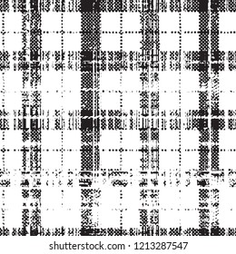 grunge;  checks or tartan seamless pattern in vector