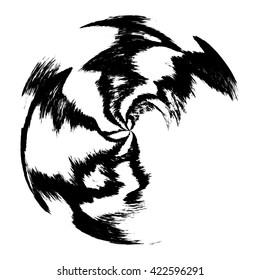 Grunge circle frame, vector illustration