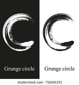 Grunge circle logo for web design