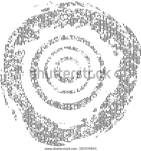 Grunge circles isolated on white background. Vector.