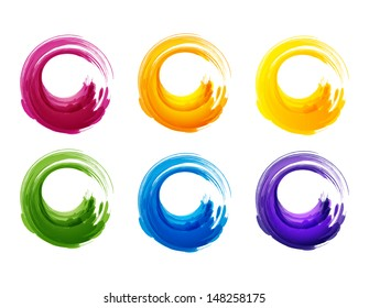 Grunge circles. Vector illustration for you design. EPS 10.