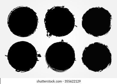 Grunge circles.Grunge round shapes. Vector illustration.
