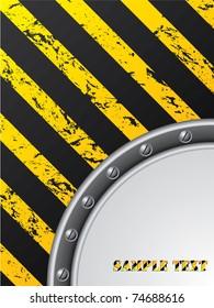 Grunge construction brochure design with screws