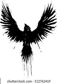 Grunge crow