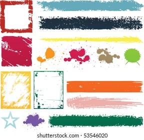 Grunge design color elements
