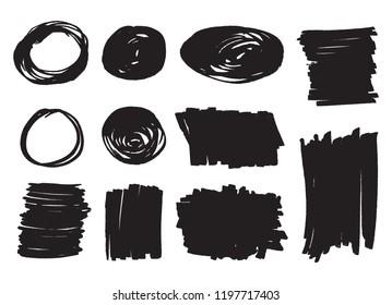Grunge design elements.Vector hand drawn backgrounds.