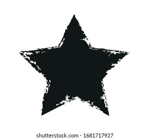 Grunge dirty star shape design