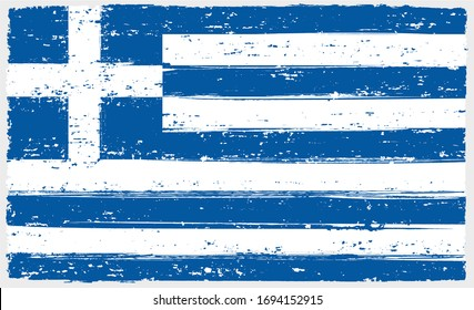 Grunge dirty textured flag of Greece.