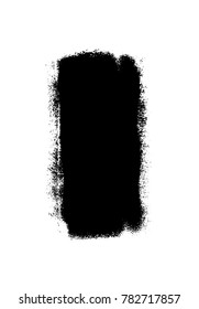 Grunge distressed background, vector template, dusty and grainy wallpaper. Hand painted with paint roller . Simple black stroke, shape on white background