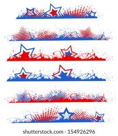 grunge edges - Patriotic USA theme Vector