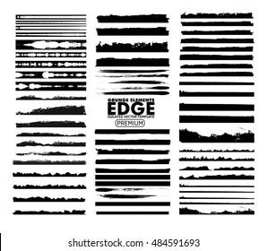 Grunge Edges set - isolated vector design elements