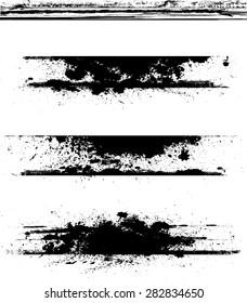 Grunge Edges Vector Set . Design Elements .